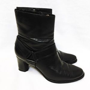 Cole Haan Leather ankle Black Booties size 8.5B